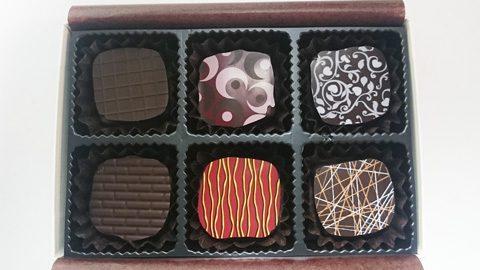ショコラティエドゥーブルセット;ボンボンショコラ6種