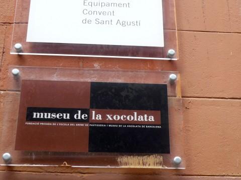 ムセウ・デ・ラ・ショコラタ入り口のプレート