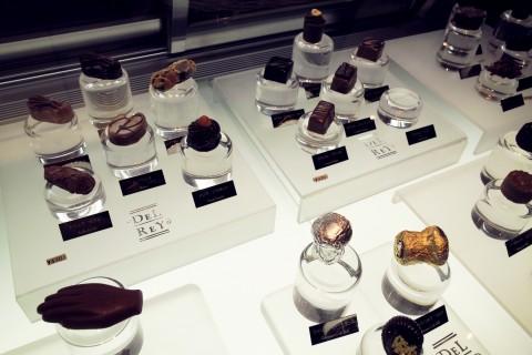 デルレイ カフェ&ショコラティエのディスプレイ