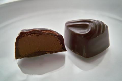 ショコラ・グランマルニエ断面