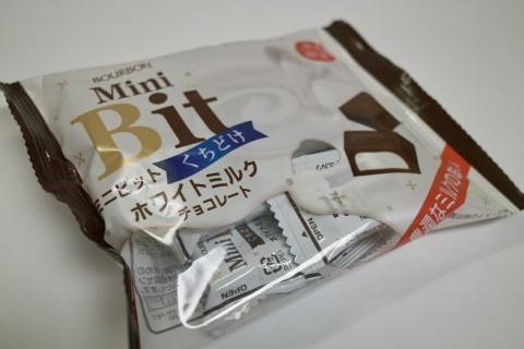 ブルボン ミニビット くちどけ ホワイトミルクチョコレート外装