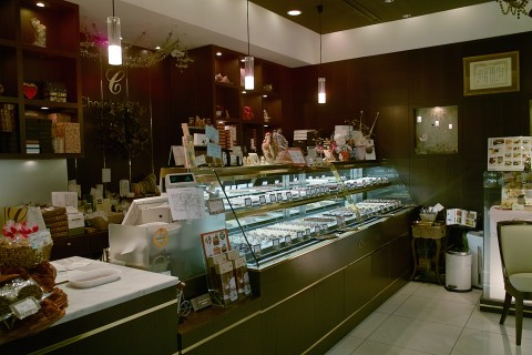 チョコレートショップのサロン・ド・ショコラ